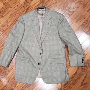 Brooks Brothers Madison Tan Plaid Blazer Jacket